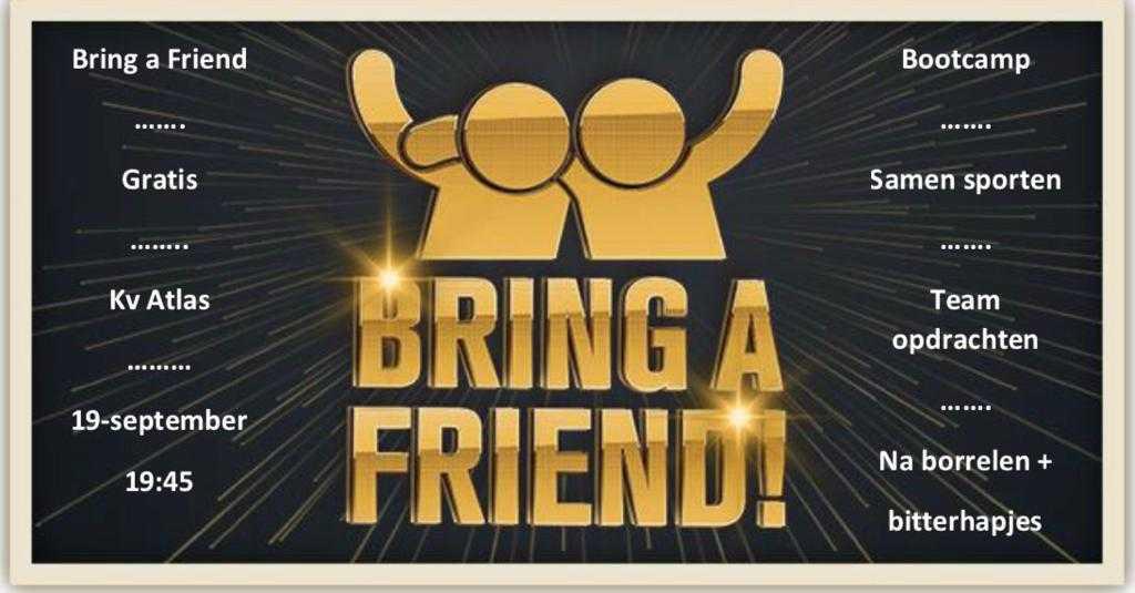 Bootcamp: neem een vriend mee!